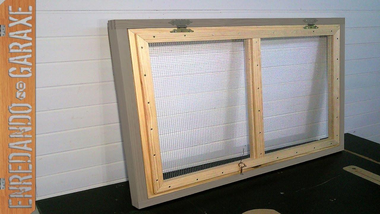 C mo hacer una ventana con malla de ventilaci n youtube - Hacer una ventana de madera ...