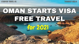 Oman Opens VISA FREE Travel for 2021 | Can Indian Citizens Go ? (in Hindi / हिंदी में )