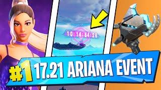 Ariana Grande SKIN & EVENT, Countdown LOCATION & Plasma Cannon OVERPOWERED (Fortnite v17.21)