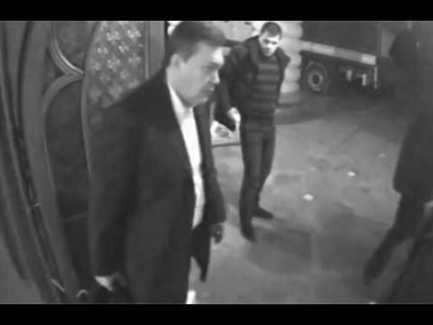 Опубликовано видео, как Янукович убегал из Межигорья с ценностями