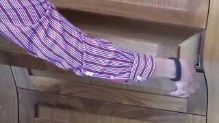Barker Cabinets drawer slide and drawer fronts adjustment video