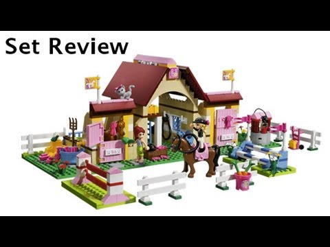 Lego Friends Heartlake Stables 3189 Set Review Youtube