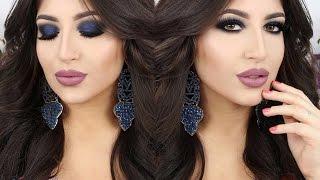 kim kardashian blue smokey eyes inspired make up tutorial   melissa samways