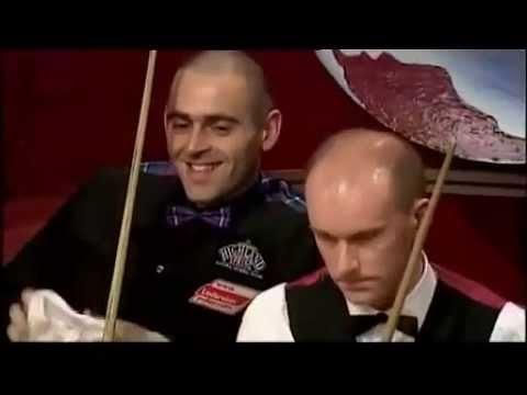 Ronnie O'Sullivan mugs off Peter Ebdon