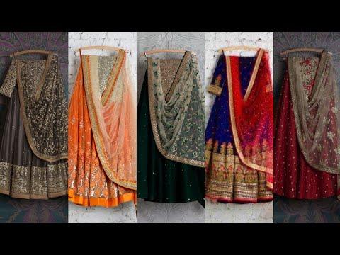 Indian style lehenga choli designs for wedding desi style lehenga choli for Mehndi walima Barat