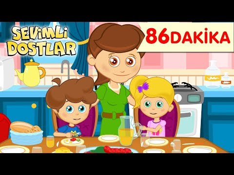 Daha Dün Annemizin ve Sevimli Dostlar ile 86 Dakika Çizgi Film Bebek Şarkıları