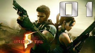 (01) Resident Evil 5 HD Remaster (PS4) Walkthrough Online Co-op: Ch. 1-1 (Veteran)