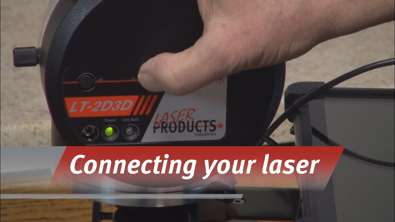 Connecting to your LT-2D3D Laser Templator - YouTube