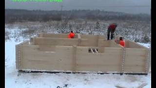 Монтаж загородного дома из бруса(Заказать постройку деревянного дома из профилированного бруса вы можете нашем сайте: http://fr-dom.justclick.ru/brus..., 2013-08-14T09:42:16.000Z)