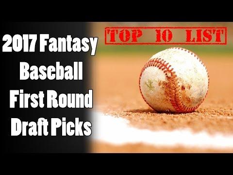 2017 Fantasy Baseball First Round Draft Picks - Top 10