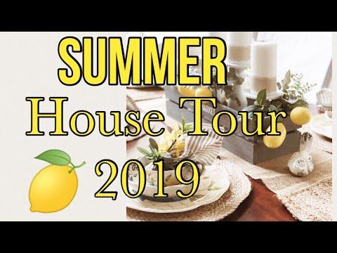 SUMMER HOUSE TOUR 2019 | COASTAL DECOR | LEMON DECOR | ANSWERING MOST ASKED QUESTIONS