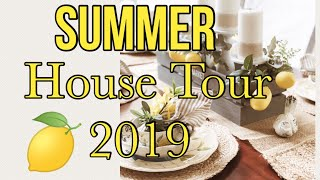 SUMMER HOUSE TOUR 2019 | COASTAL DECOR | LEMON DECOR | ANSWERING MOST ASKED QUESTIONS