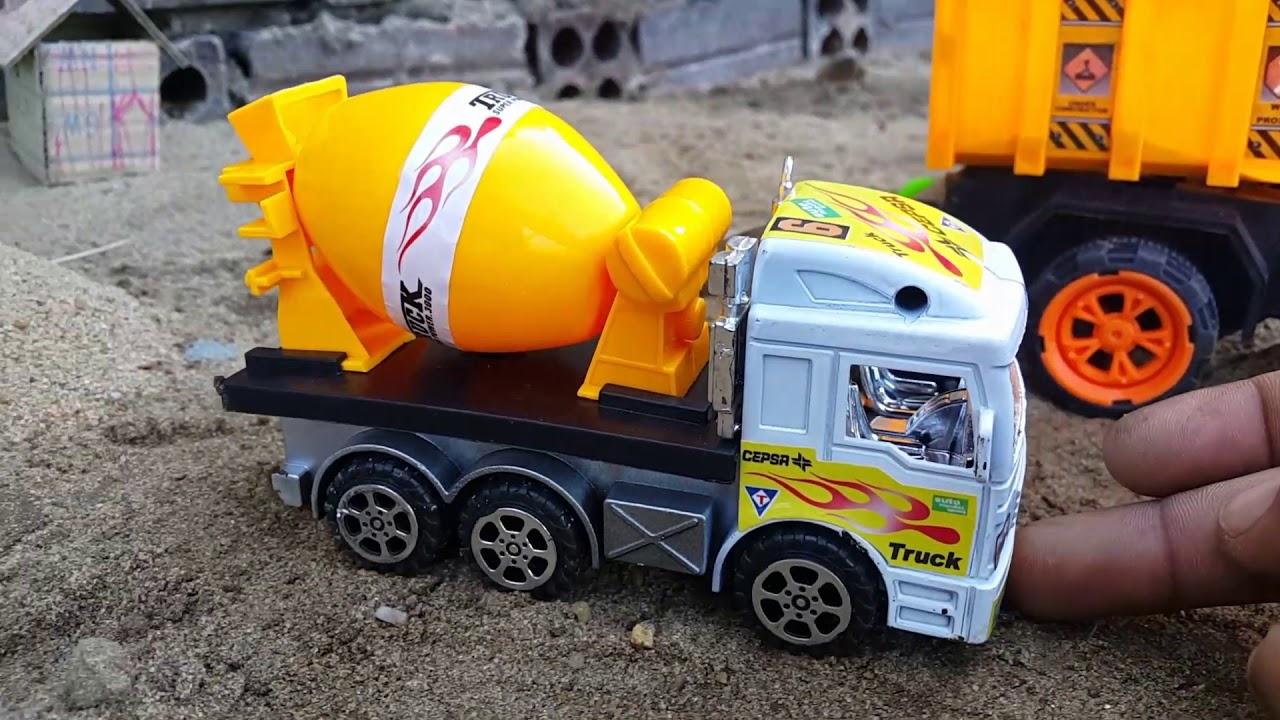 Download #18car and excavator toye for kids-ការធ្វេីផ្លូវបេតុង