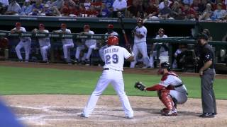 Vincente Padilla plunks Adrian Beltre 7/24/12 Rangers Red Sox