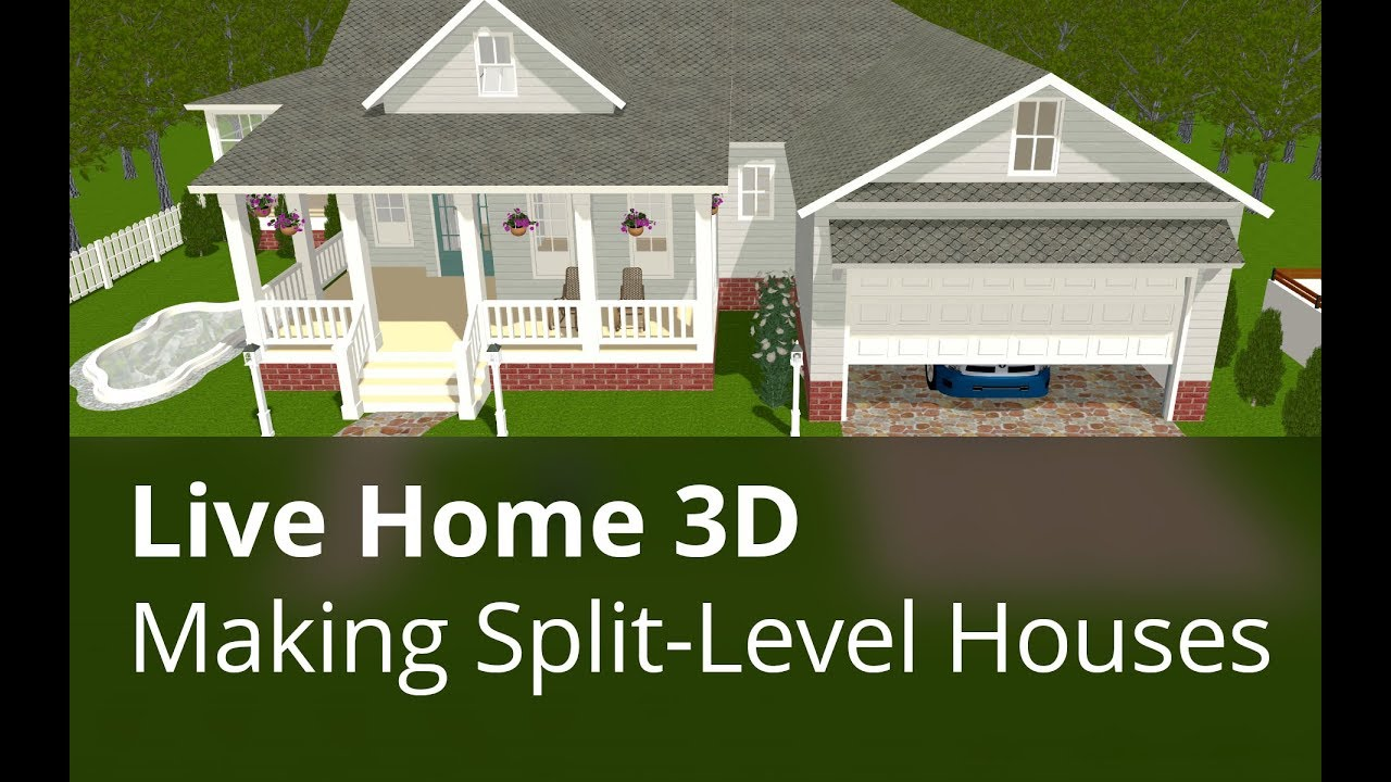 Live Home 3d For Windows Tutorials Making Split Level Houses Youtube