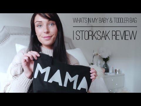 What's In My Baby & Toddler Bag   Storksak Tote Bag & Serene Bag Review