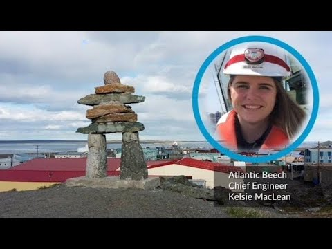 Tugboat Chief Engineer on Her Way to Nunavut - YouTube