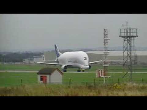 Airbus Beluga TAKEOFF   Broughton