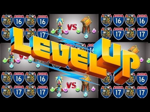 #4 Lets All Play Castle Clash: Town Hall Level 16 And 17 + Magic Towers Vs Archer Towers