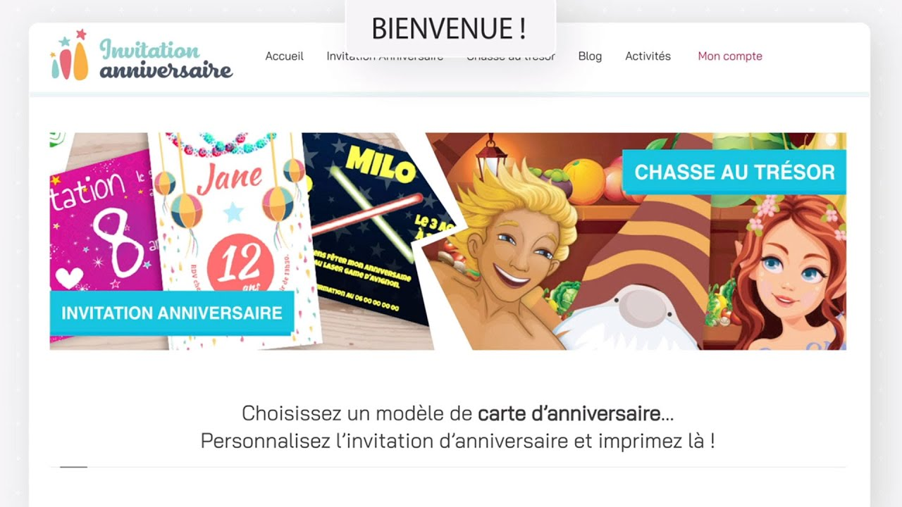 invitation anniversaire carte d