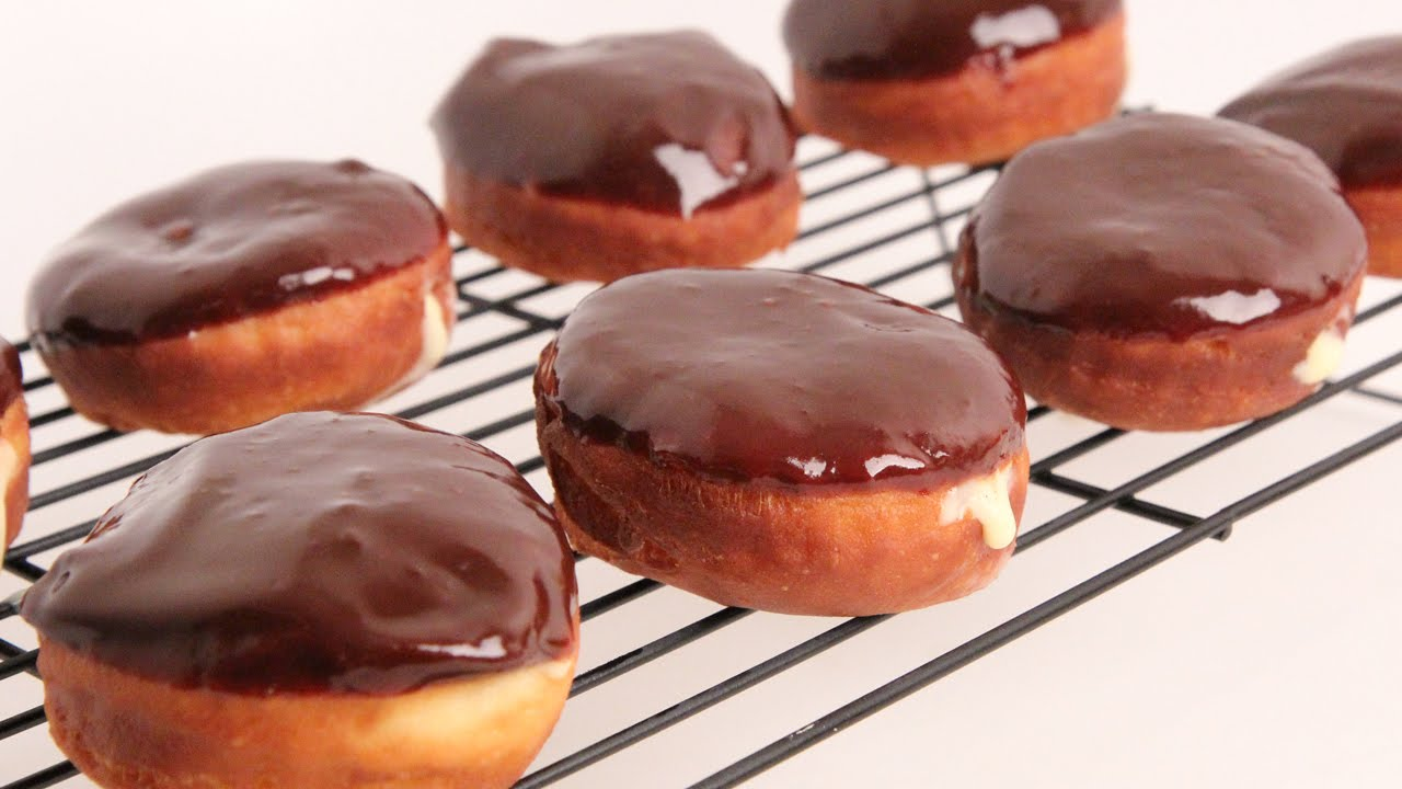 Homemade Boston Cream Donuts Recipe - Laura Vitale - Laura in the Kitchen Episode 867