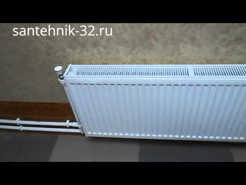 Монтаж отопления из стальных панельных радиаторов