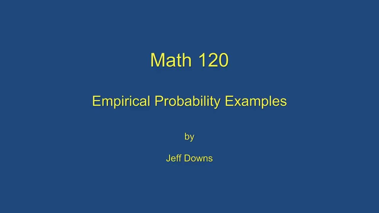 Empirical Probability Definition