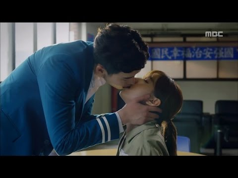 [W] ep.07 Lee Jong-suk ♥ Han Hyo-joo 'handcuff kiss'! 20160810