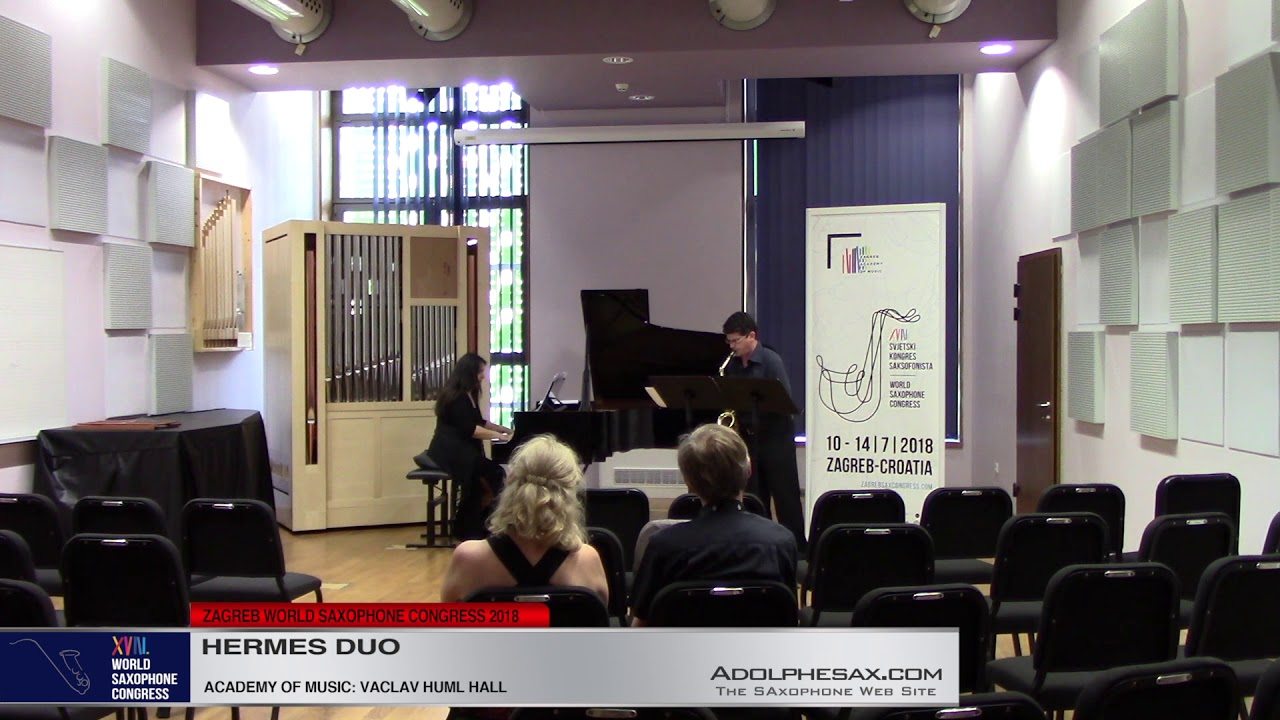 Vagues by Menelaos Peistikos    Hermes Duo   XVIII World Sax Congress 2018 #adolphesax