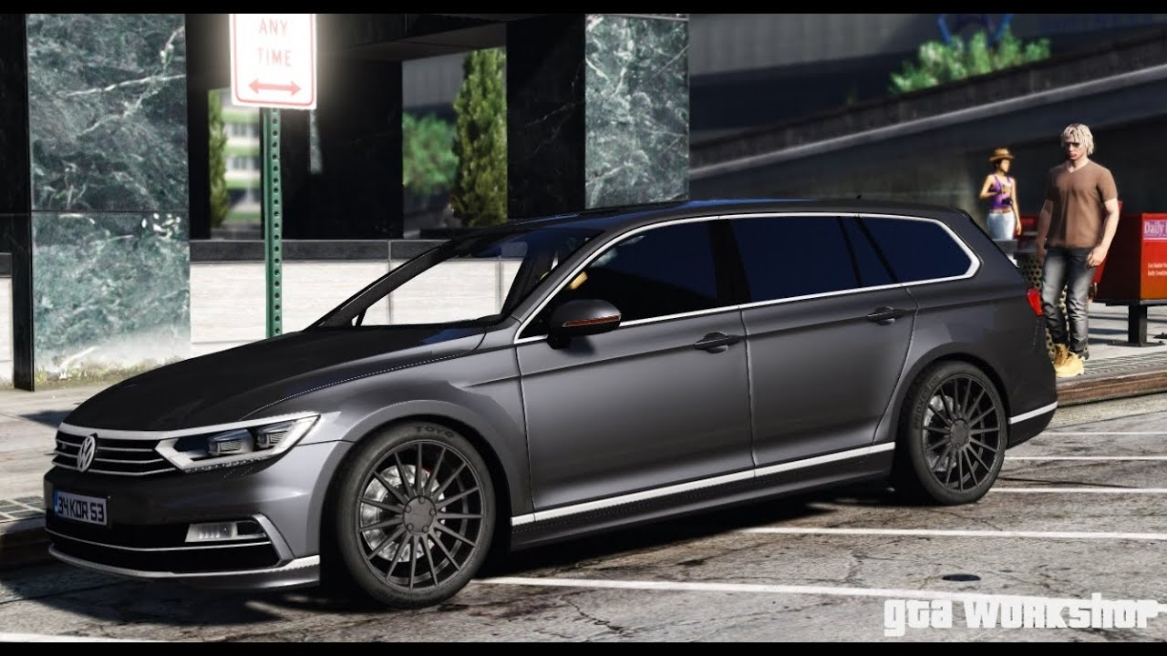 gta 5 volkswagen passat variant 2016 pc mod youtube. Black Bedroom Furniture Sets. Home Design Ideas