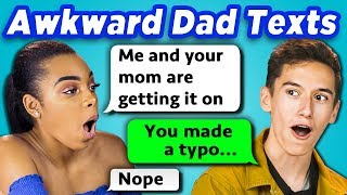 TEENS READ 10 AWKWARD DAD TEXTS (REACT)