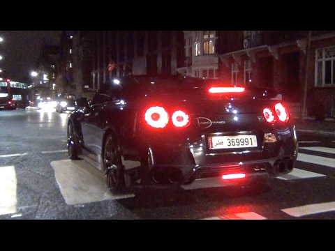 Arab Nissan GT-R CRAZY LAUNCH CONTROL X2 in London!! - supercar zings