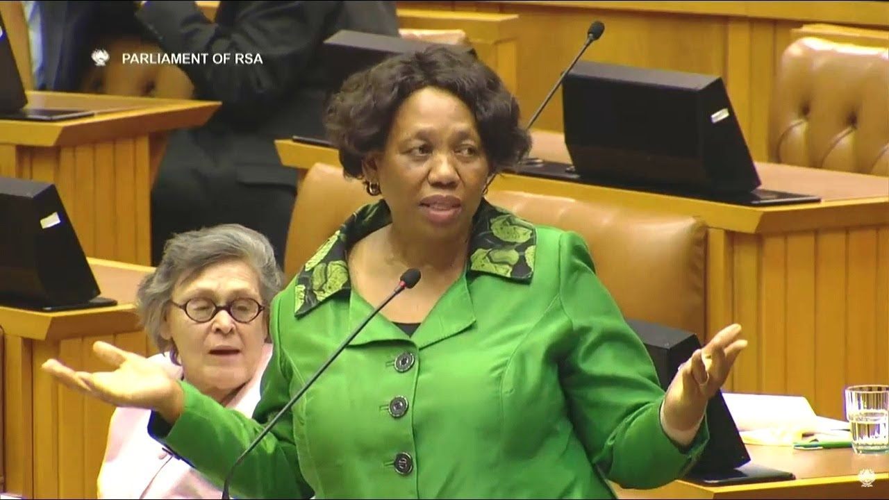 Comedy In Parliament Angie Motshekga Pushed In A Corner Youtube