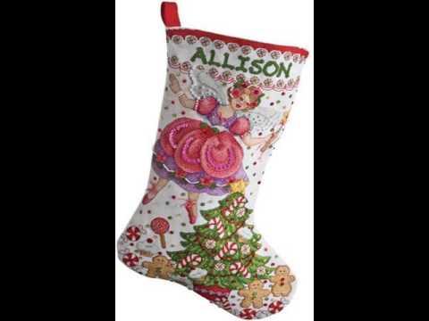 cross stitch christmas stocking kit - Cross Stitch Christmas Stocking Kits