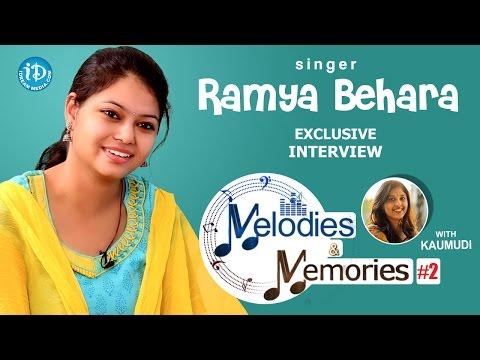 Singer Ramya Behara Exclusive Interview || Memories & Melodies #2