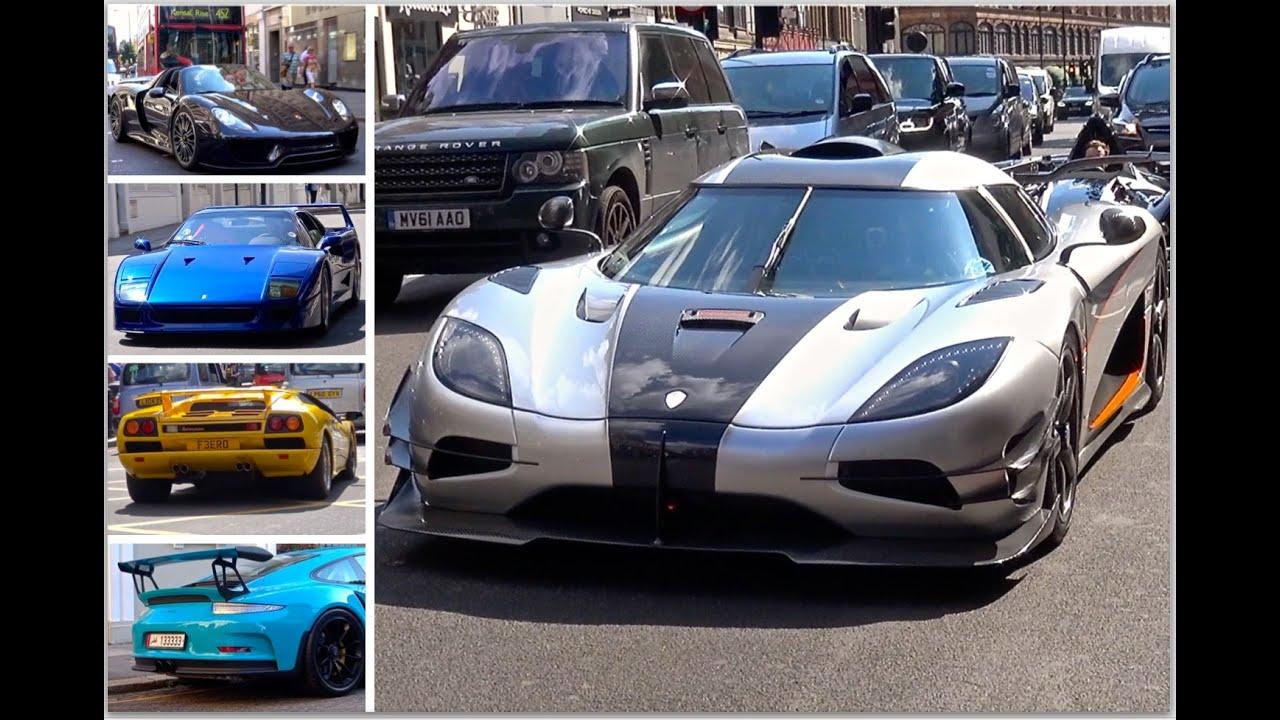 London Supercar Insanity #55 - Koenigsegg One:1, Blue Ferrari F40 & More!
