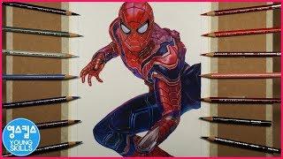 스파이더맨 그리기 Spiderman Drawing   영스킬스