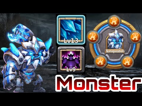 Sasquatch | 13/13 Skill In Action | 9 Wicked Armor | 8 Revite | Walk Like A Champion | Castle Clash