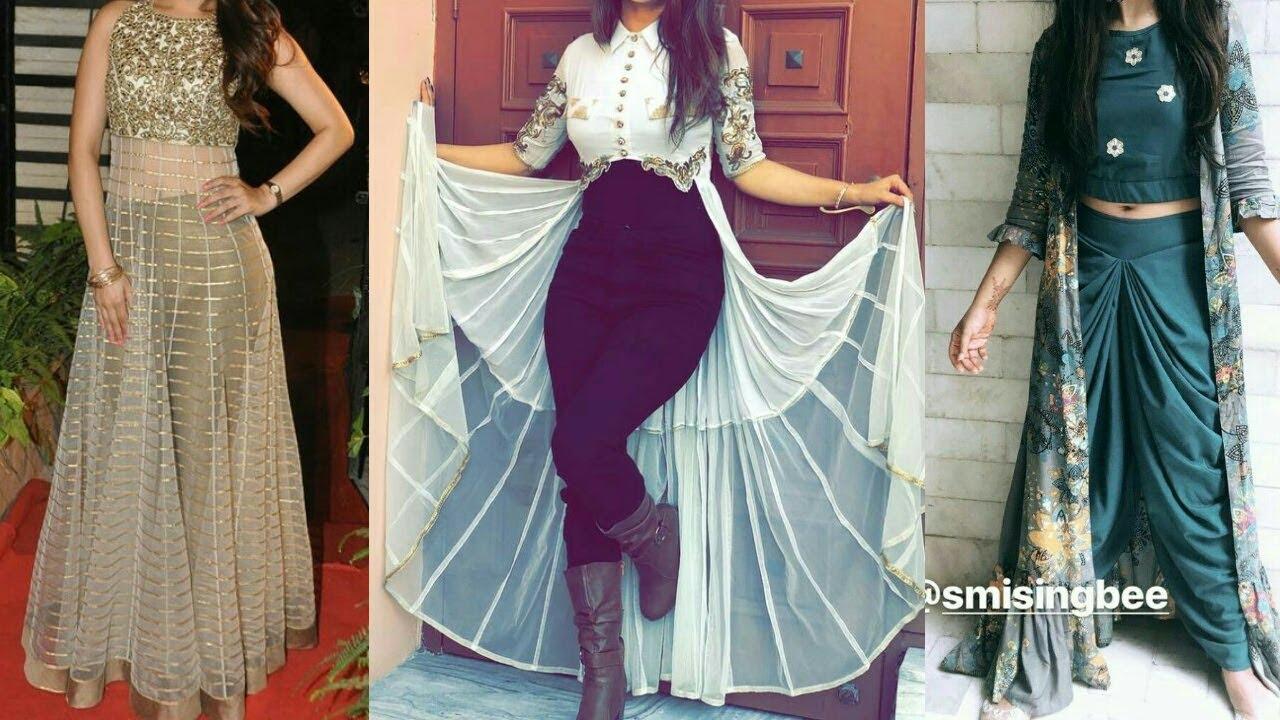 stylish indo western dress for girls