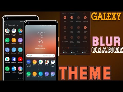 Galaxy [Blur Orange] Best THEME || Install Any Galaxy Devices || Download & Install