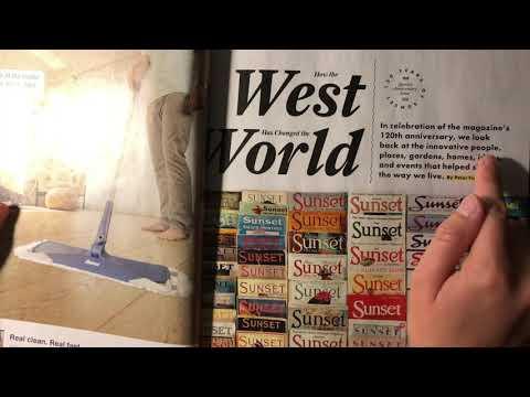 ASMR Sunset Magazine Flip Nov 2018   Whispers, Mouth Sounds