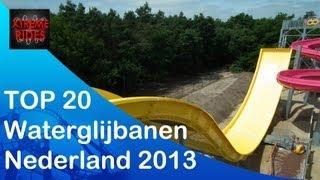 TOP 20 waterglijbanen Nederland 2013