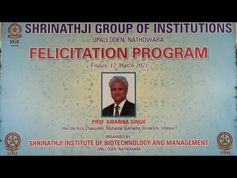 Felicitation Program at Shrinathji institute of Biotechnology and Management