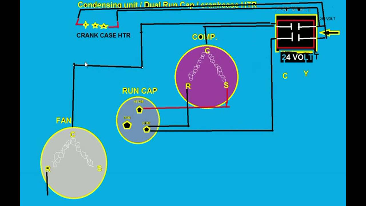 understanding condenser wiring diagrams on re frigeration youtube rh youtube com Condenser Fan Motor Wiring Diagram Trane Condenser Wiring-Diagram