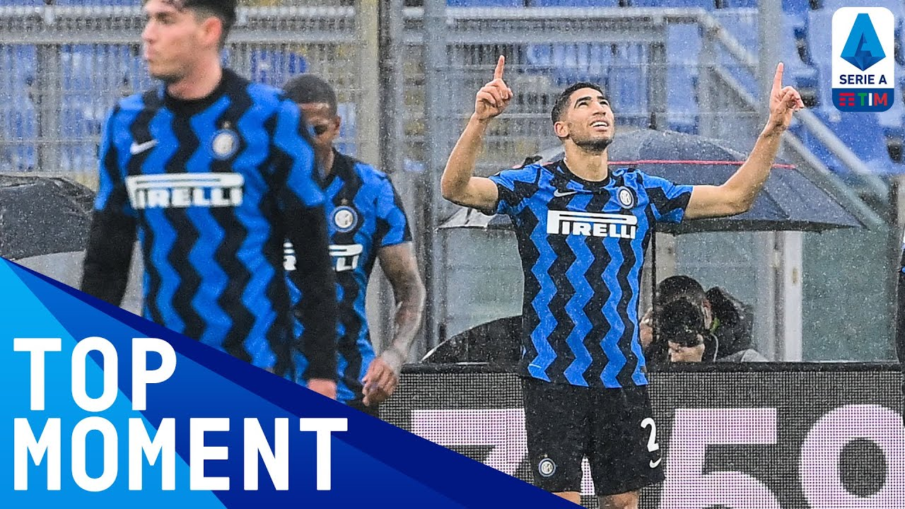 Hakimi scores unstoppable top-corner strike | Roma 2-2 Inter | Top Moment | Serie A TIM