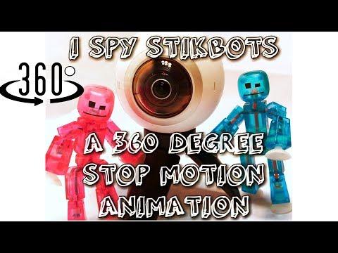I Spy #Stikbots : A 360 Stop Motion Animation