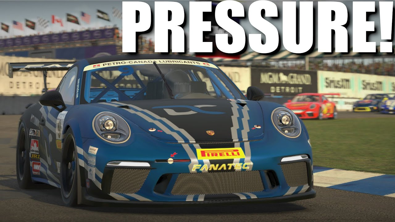 This turned me into a sweaty mess!   iRacing Porsche 911 Cup @ Belle Isle
