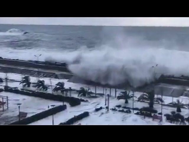 VIRAL: Spectacular video of immense waves crashing over embankment to flood Sochi district
