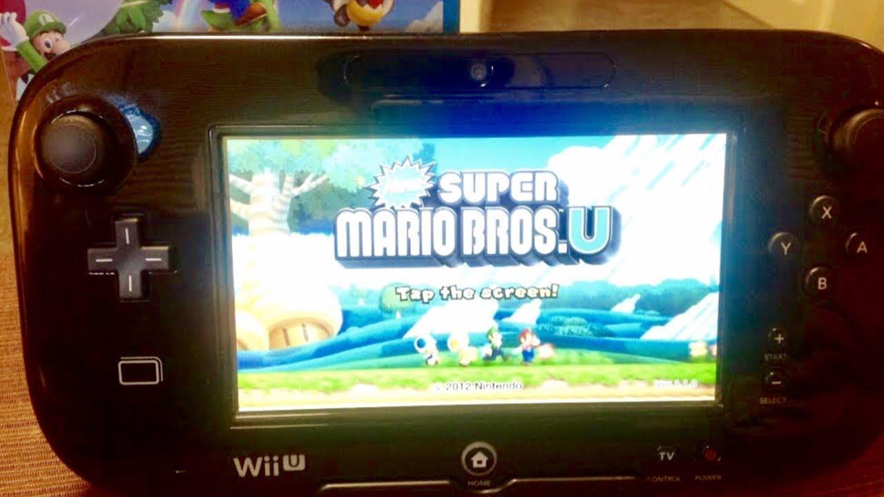 Wii U New Super Mario Bros U Controller Gameplay Hd Youtube