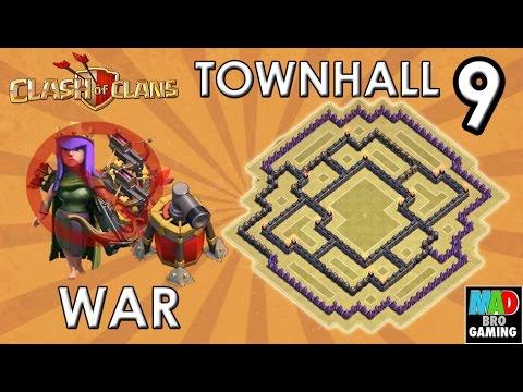 Th9 farming base no xbow or archer queen th9 war base no xbows no